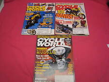 3 CYCLE WORLD MOTORCYCLE MAGAZINES 1998 CBR600, BUELL X1, BMW R100S, (Y114)