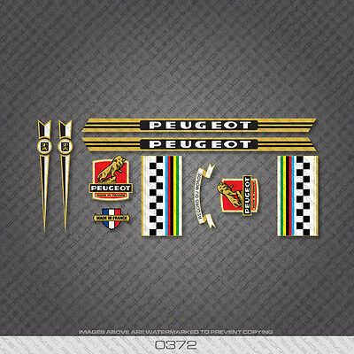 0555 Peugeot Bicycle Frame Stickers Decals Transfers
