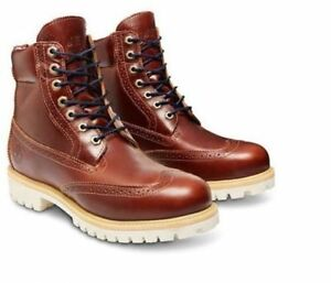 buy online 440fd 68f10 Details about TIMBERLAND® CHESTNUT QUARTZ MEN S LIMITED RELEASE 6-INCH  WATERPROOF BROGUE BOOTS