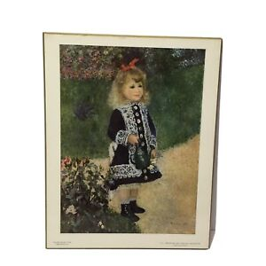 A Girl With A Watering Can by Pierre Auguste Renoir Repro ...