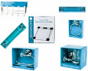chrome crystal bathroom accessories silver sparkle diamante toilet accessory set ebay. Black Bedroom Furniture Sets. Home Design Ideas