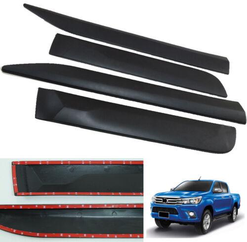 For Toyota Hilux Revo Pickup 15-18 Black Car Door Body Side Door Molding Trim