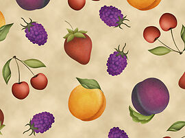 Quilting Treasures Fruit Basket by Angela Anderson 22343A Fruit Toss Cotton Fab