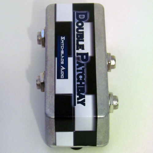 """Pedalboard Double Patchbay 2-Channel 1//4/"""" Mono Guitar Bass Pedal Effects Studio"""