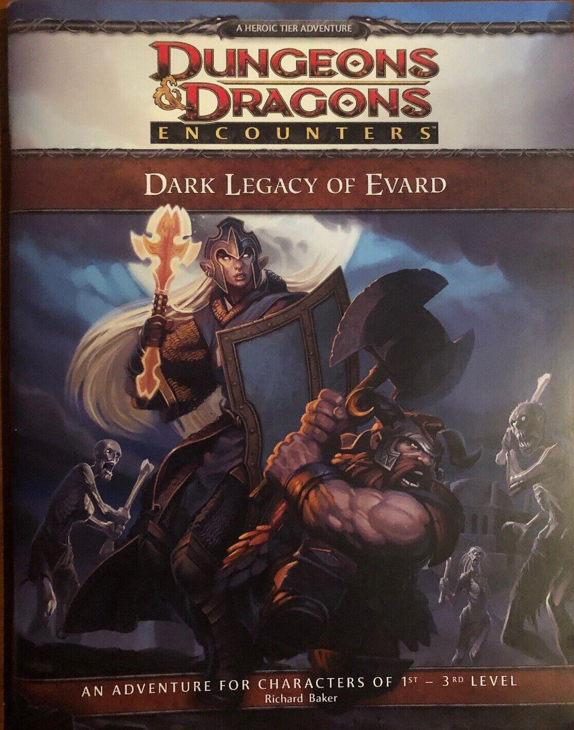 mejor precio Dungeons & Dragons D&D oscuro legado de Evard 1st-3rd 1st-3rd 1st-3rd nivel, nuevo  el estilo clásico