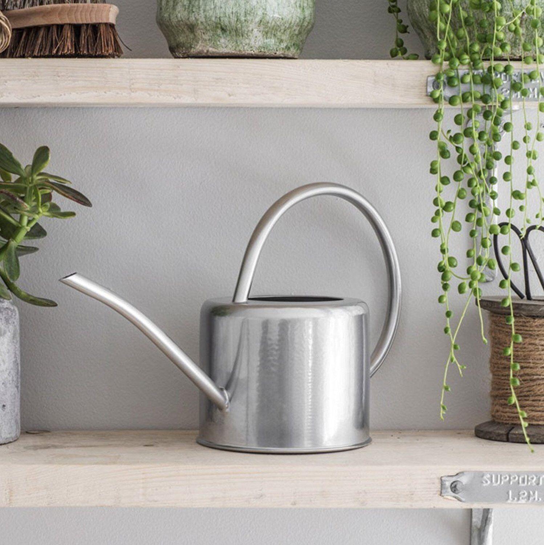 Indoor Small Watering Can Metal Galvanised Steel 1.9L Narrow Spout Plants UK