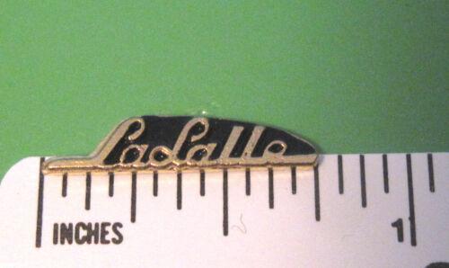 tie tac  GIFT BOXED hat pin CADILLAC LaSalle  La Salle script lapel  pin