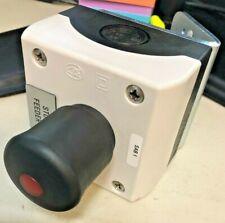 Eaton Illuminated Black Red Dot Emergency E Stop Push Button Box With Bracket