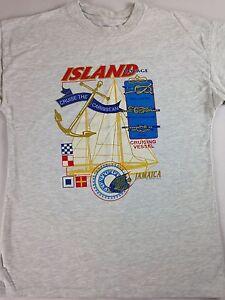 Sun-Island-Voyage-T-Shirt-VTG-Jamaica-Mens-SZ-M-L-90s-Caribbean-Cruise-Knot-Tie