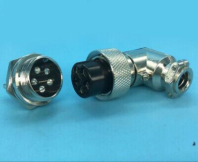 Right-angle 20mm M20 1 set HQ 8 Contacts GX20 8-Pin Aviation Plug /& Socket