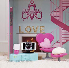 NEW SINDY DOLLS HOUSE LIVING ROOM FURNITURE LAMP CHAIR SOFA CABINET SET