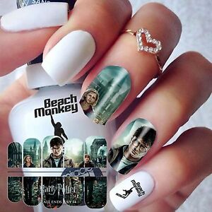Nail Art Nail Wraps Nail Decals Water Transfers Decals Harry Potter