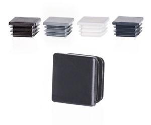 10 Stck Quadratstopfen 60x60 mm Anthrazit Kunststoff Endkappen Verschlusskappen