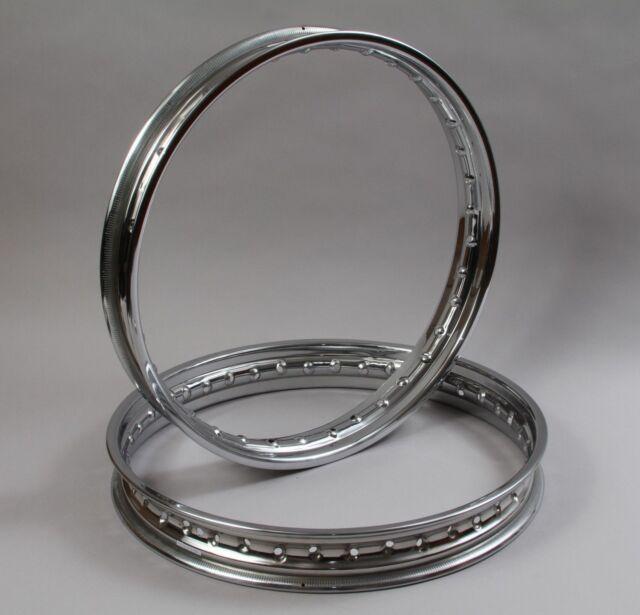 19 & 18  Inch HEAVY DUTY CHROME MOTORCYCLE Wheel Rim With 36 Spoke Holes