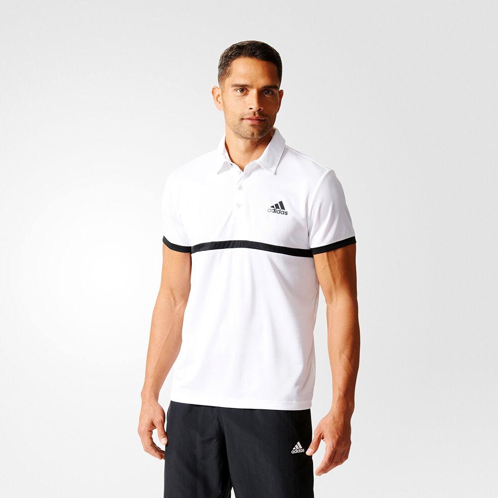 adidas Court Polo Shirt NEU Herren T-Shirt AI0745 weiß schwarz