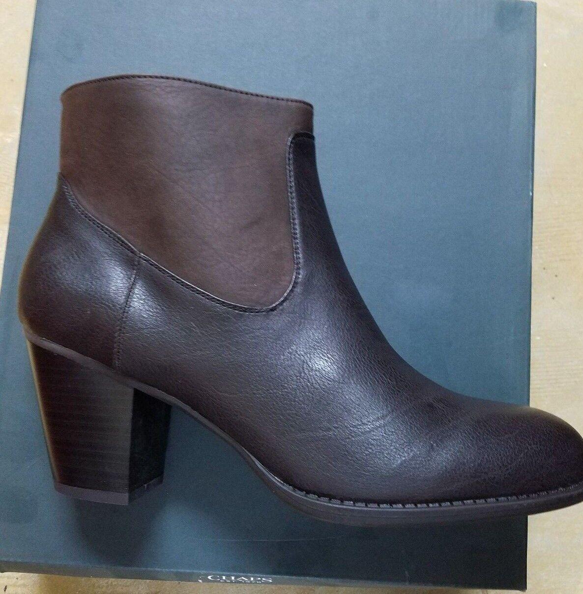 Women's Chaps by Ralph Lauren Misa Dark Brown Bootie Ankle Boots SIZES  NIB NEW