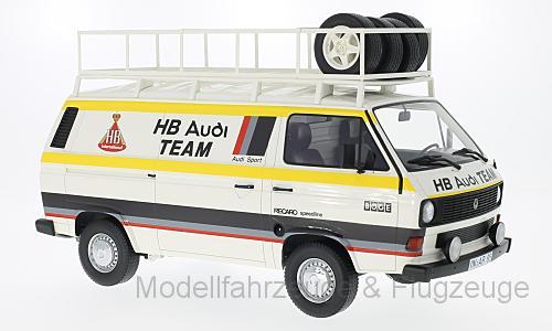 30023 VW t3 Cassetta carrello HB AUDI TEAM 1980, 1:18 Premium CLASSIXXS