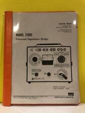 Esi 13202 Model 250de Universal Impedance Bridge Instruction Manual