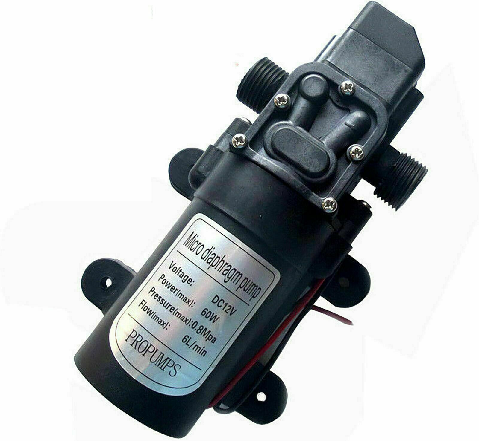 New 12V 60W 5L Per Min High Pressure Diaphragm Water Pump For Car Caravan Boat