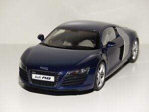 Kyosho-1-18-Audi-r8-4-2-Future-v8-bleu-Blue-NOUVEAU-neuf-dans-sa-boite-Kyosho-no-09213bl