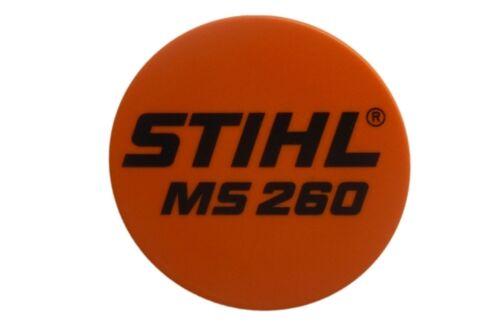 Typenschild für Motorsäge Stihl MS 260
