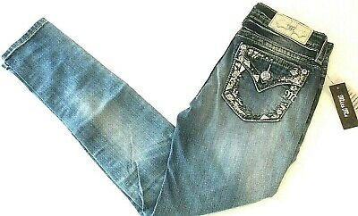 Miss Me Embroidered Skinny Jeans 25~30