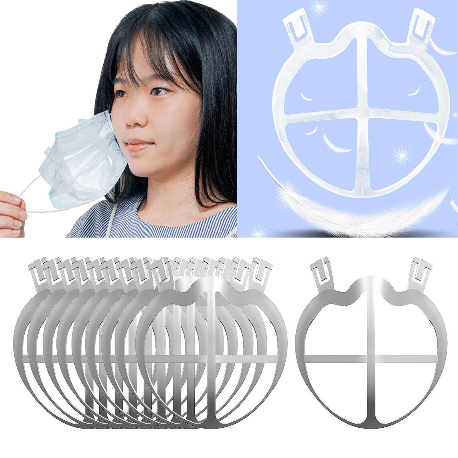 10Pcs Face Mask Bracket Protect Lipstick Holder Rack Makeup Breathable Frame