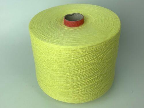 100/% Baumwolle Hell Gelb Garn Wolle Kone 1300gr Häkeln Stricken Weben Bobbel P8