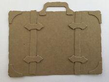 """{3} VALISE SUITCASE  - Travel Luggage - Vintage Chipboard Die Cuts 4 1/8"""" x 6"""""""
