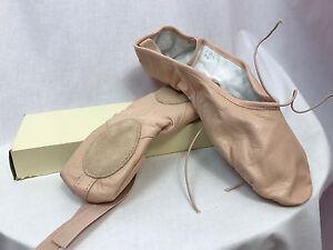 Bloch-S0203L-Prolite-II-Hibrido-Rosa-Cuero-Ballet-Zapatos-Talla-9-5-A-Nuevo