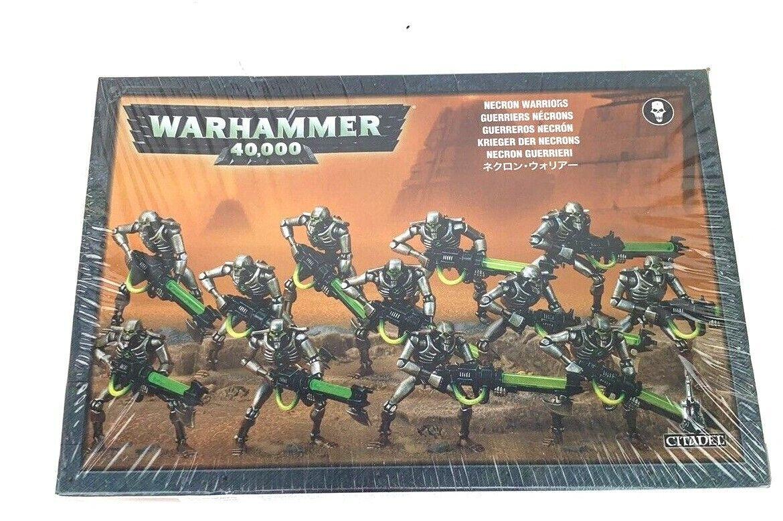 Warhammer 40000 40k Necron Warriors x12 y Canoptek SCocheabs para 3 bases Sellado
