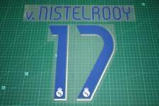 Real Madrid 06/07 #17 v. NISTELROOY Homekit Nameset Printing