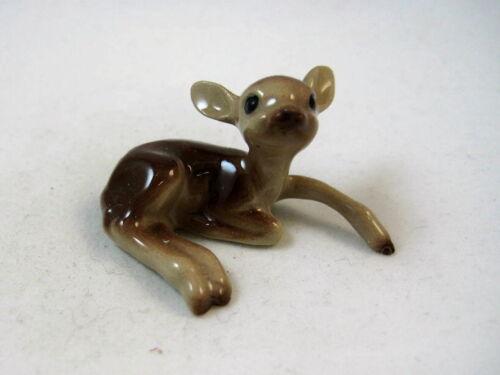Hagen Renaker miniature made in America Baby Deer fawn lying leg out