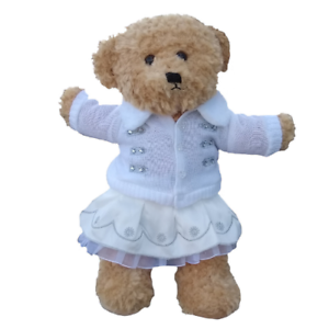 SILVER-WHITE-WINTER-OUTFIT-TEDDY-BEAR-CLOTHES-FITS-16-034-40cm-BUILD-A-TEDDY-BEAR