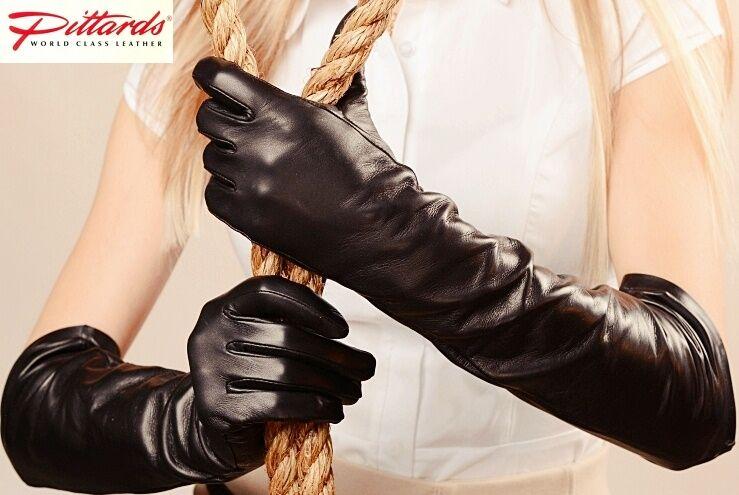 ! novedad! negro Lang opera de cuero guantes! nuevo!