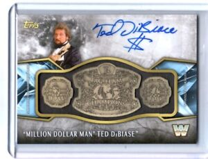 WWE-Ted-Dibiase-2017-Topps-Legends-Belt-Plate-Autograph-Relic-Card-SN-5-of-99