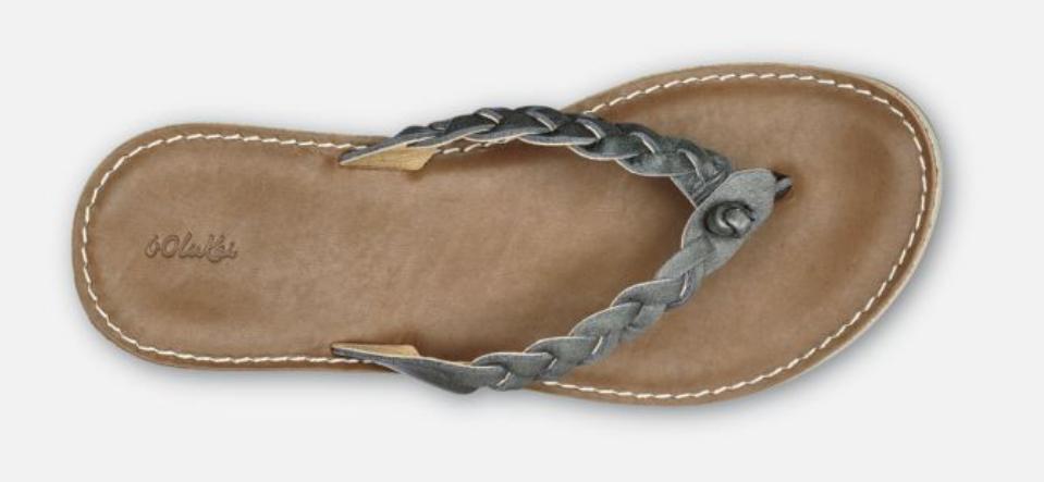 Olukai Kahiko Slate Tan Flip Flop Comfort Sandal Women's sizes 5-11 NEW