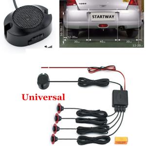 Car Parking Assistance 4pc 16mm Flat Sensors Car Reverse Backup Radar System Kit
