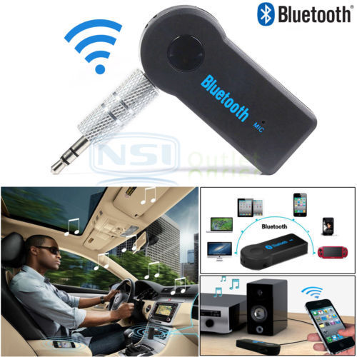 Universal Bluetooth 3.5mm Streaming Car Adapter A2DP Wireless AUX Audio Music