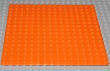LeGo Orange Baseplate 16 x 16 NEW