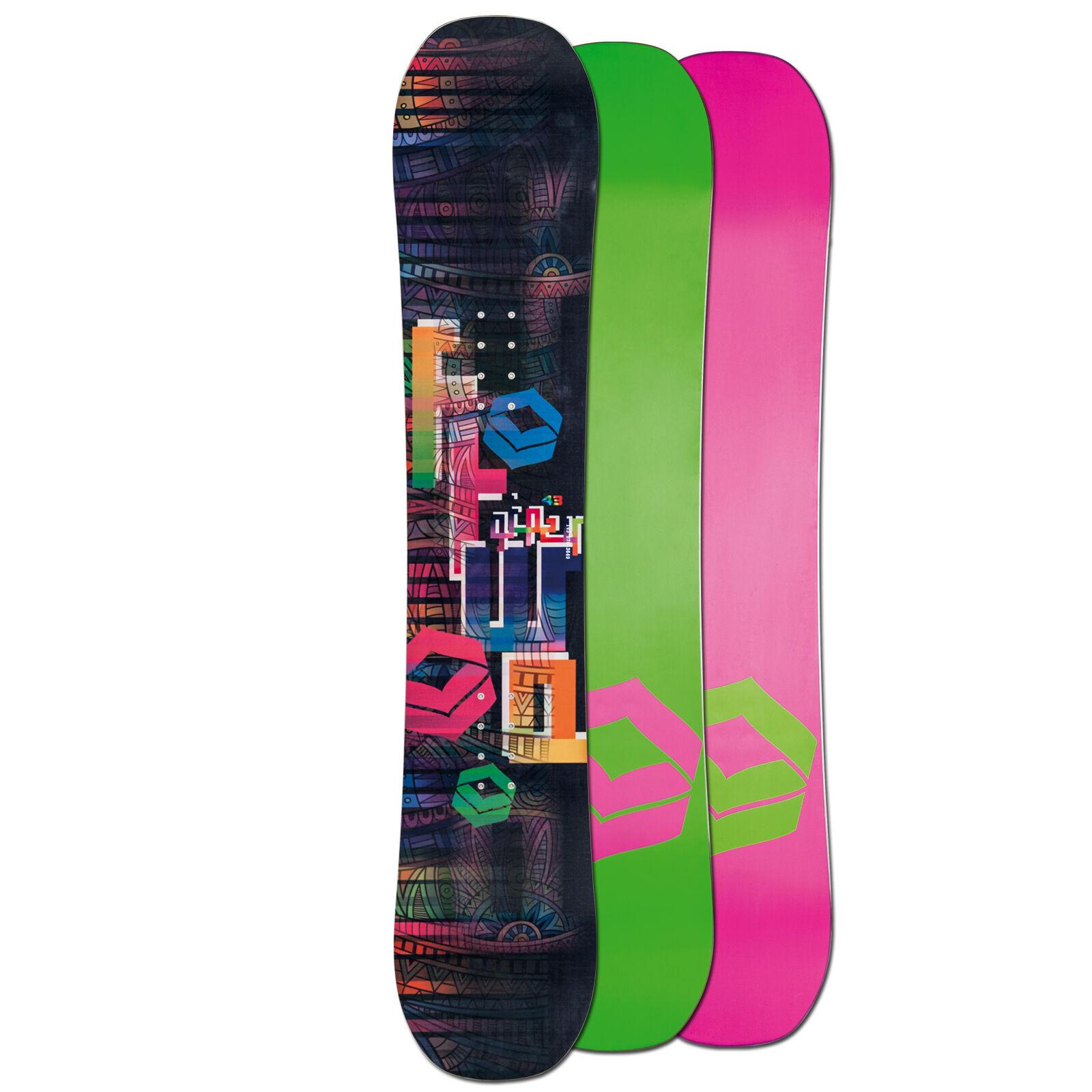 Ftwo Femmes Freestyle Snowboard Gipsy Noir Noir Noir ~ 152 Cm Rocker Plat 721ef1