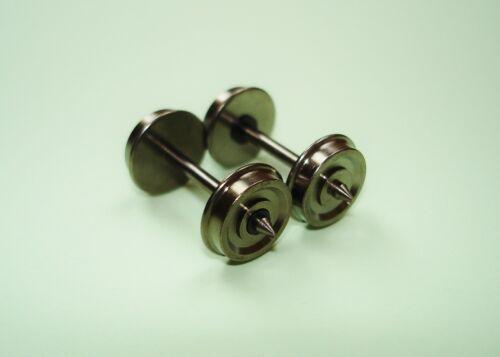 10xH0-RP25 Radsätze//Achsen für Liliput Achslänge 24,75mm e.i. Lkdm 10,4mm