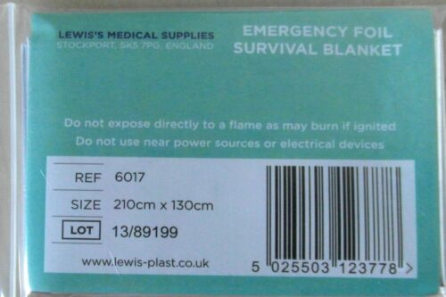 Buy FIVE to 25 x Emergency Foil Survival Blanket For Treating Shock Hypothermia