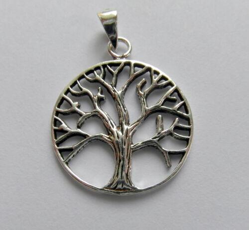 18 MM !!!!! 925 Plata Esterlina árbol De La Vida Colgante nuevo!!!!!!