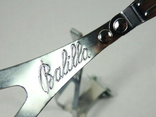 NEW OLD STOCK Balilla Toe Clips Large W boulons italien Vintage Road Track Bike années 1960