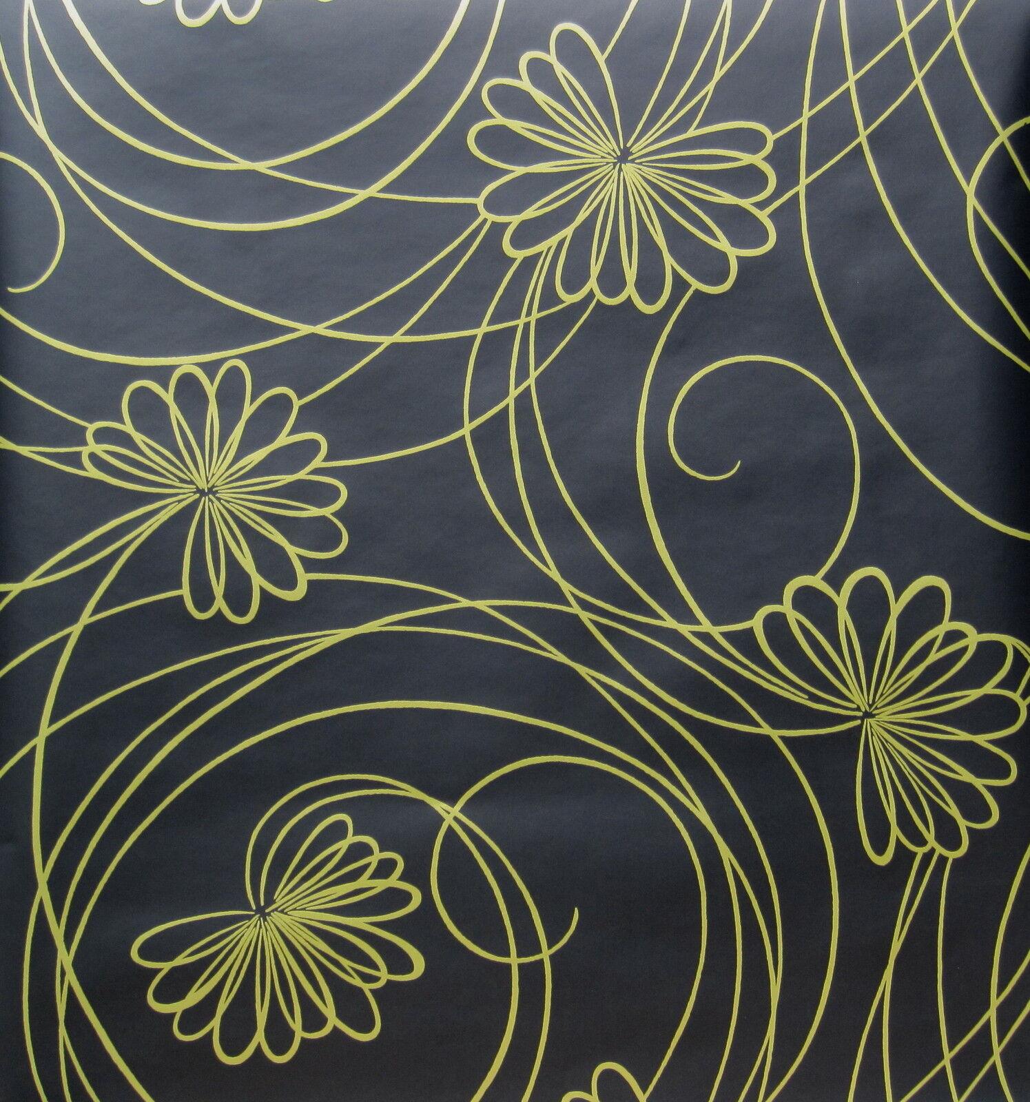 Ashford House Bl0316 Copper Floral Leaves Wallpaper For Sale