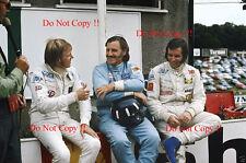 Ronnie Peterson & Graham Hill & Emerson Fittipaldi Portrait 1971 Photograph