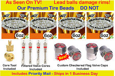Tire Balance Beads Ceramic Dynamic Balancing $5 FREE offer with 4- 6 oz bag kit