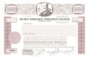 Walt-Disney-Productions-Stock-Certificate