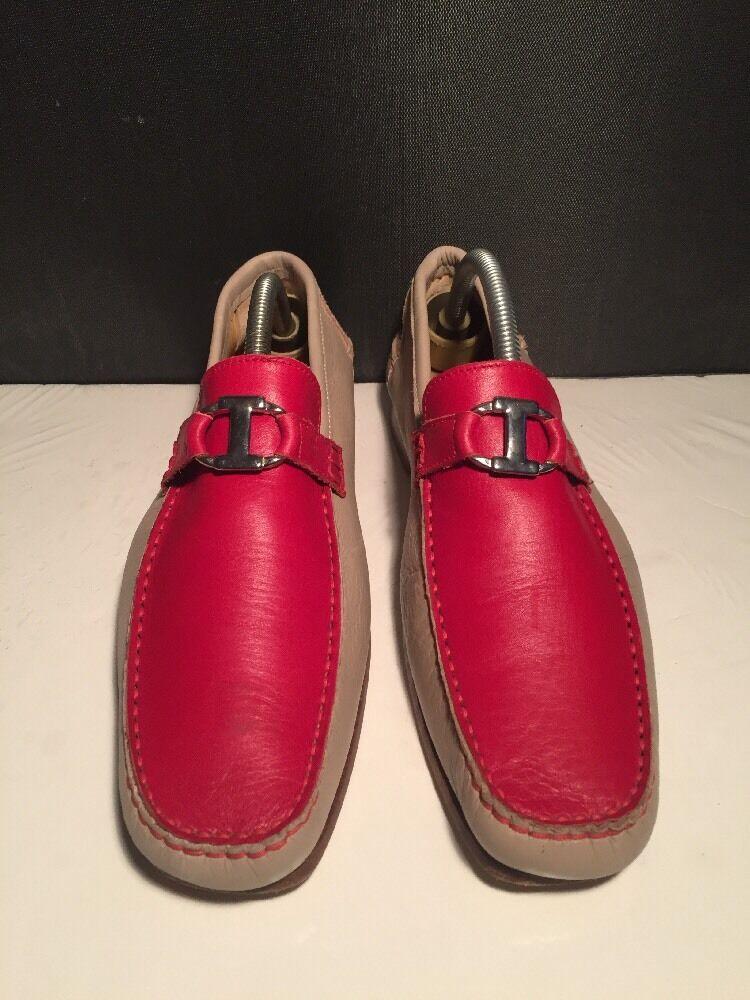 sconto di vendita Iceberg Designer Donna Donna Donna Leather Loafers Beige & rosso Dimensione 39 8.5 US  più ordine